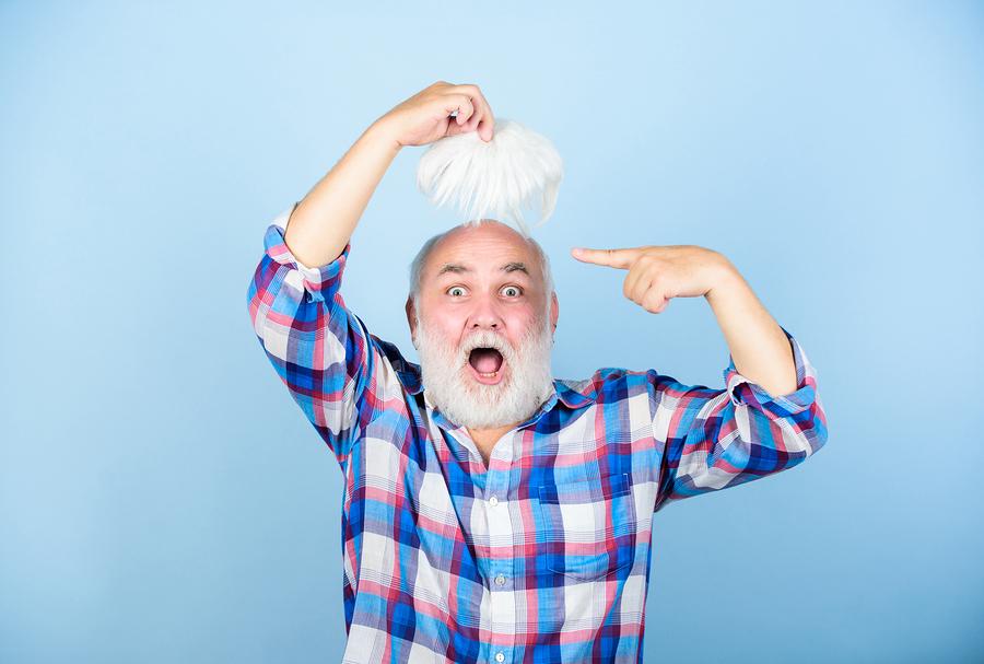 Kunsthaar zur Haarverlängerung oder Perücke
